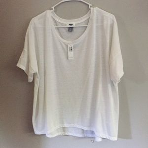 Old navy small white oversized shirt
